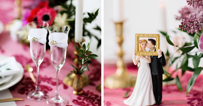 Warum nicht mal ein Home-Dinner zum Hochzeitstag? Tischdeko macht es romantisch!