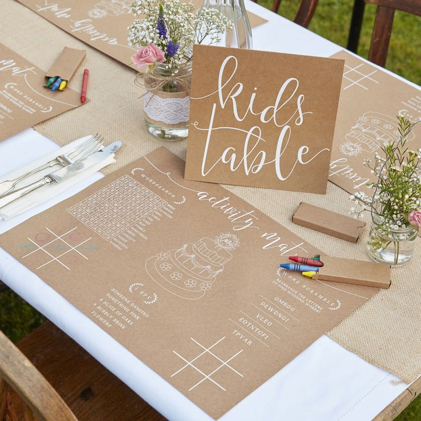 Wedding Kids Special Kid S Table My Bridal Shower Blog