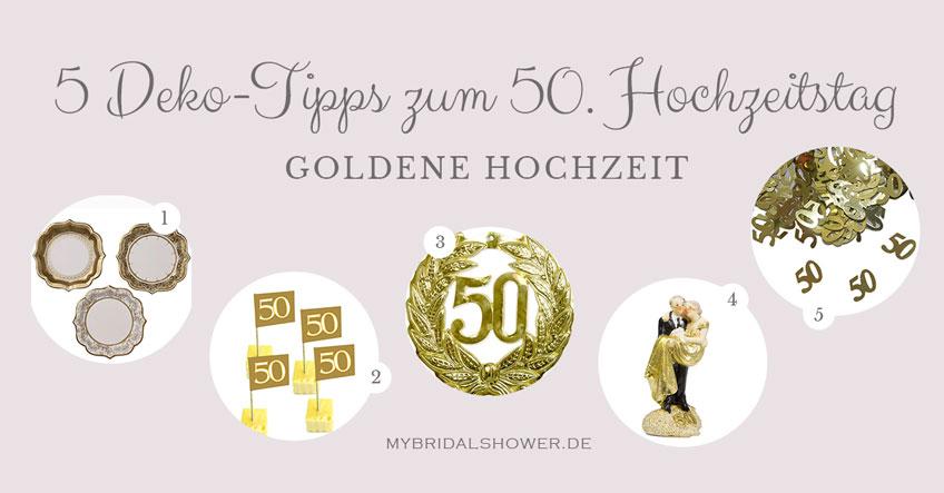 5 tolle Dekoideen für die Goldene Hochzeit