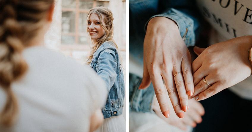 Schenke einen Freundschaftsring zum Trauzeuginnen-Antrag (c) Christine Ladehoff Fotografie