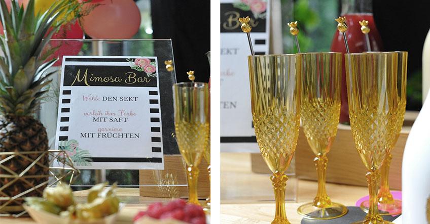 Goldene Highlights auf deiner tropical Mimosa Bar