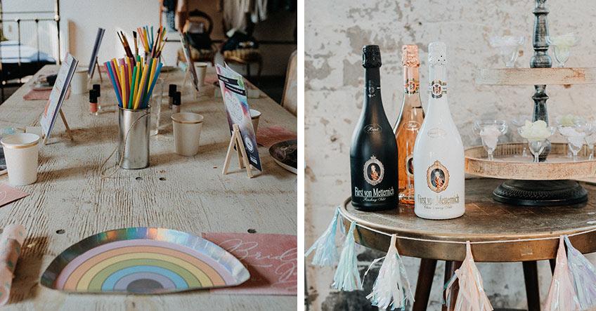 Regenbogen und Buntstifte - ein cooler Kontrast zum städtischen Grunge-Flair (c) Christine Ladehoff Fotografie