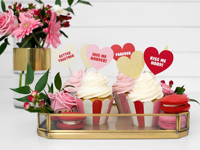 Verwöhn deine lieben Menschen mit wunderschönen Valentinstags-Cupcakes