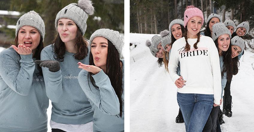 Winter-JGA - Team-Pullis und Wintersport statt JGA-T-Shirts und Bauchläden (c) Josina Kaiser - Hochzeitsverliebt
