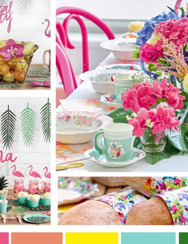 Sommerlich lassen die hellen Farben die Hochzeitstafel erstrahlen