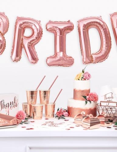 Eine Brautparty in Rosegold ist elegant und modern