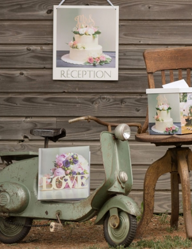Polaroid-Motive untermalen romantisch und nostalgisch das Motto deiner Retro Hochzeit
