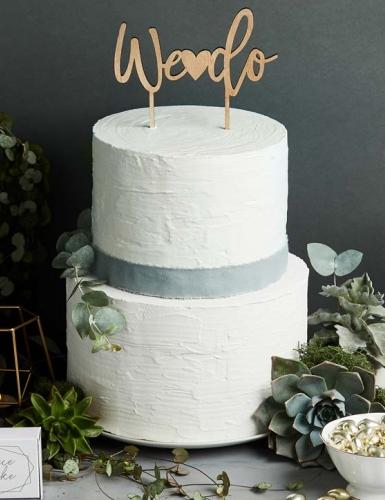 """Ein schönes Symbol zur Verlobungsfeier - Der Cake-Topper """"We do"""""""