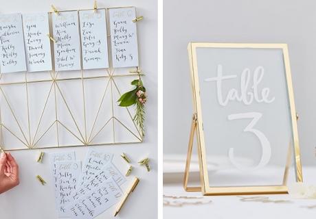 Geometrische Formen machen den Hochzeitslook moderner