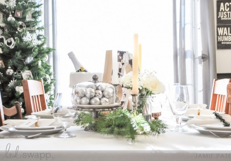 Eine geschmackvolle und natürliche Dekoration zum Dinner für die Goldene Hochzeit (c) Heidi Swapp