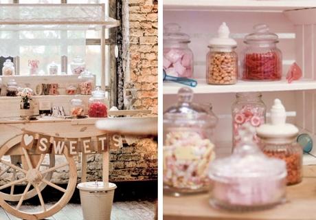 Die Candy Bar auf der Hochzeit - raffiniert aufgebaut noch schöner