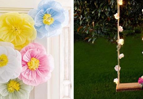 Überall Blumen - sei bunt auf der floralen Brautparty