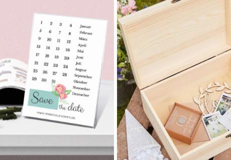 Ehekalender als schönes Geschenk - als Kalender zum Anfassen oder als kleine Überraschungsgeschenke
