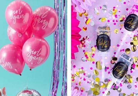 Ballons und Konfettikanonen - damit kommt richtig Feierstimmung auf!