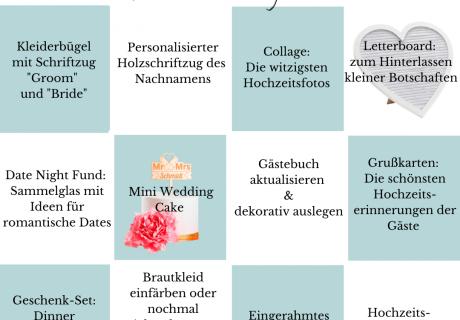 So kann dein Paarkalender fürs erste Ehejahr oder zum Hochzeitstag aussehen