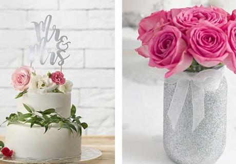 Rosen in Pink und Apricot peppen eure Deko zur Silberhochzeit wunderbar auf