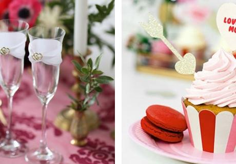 Schenke zum Valentinstag schön dekorierte Grüße aus der Küche, z.B. Cupcakes
