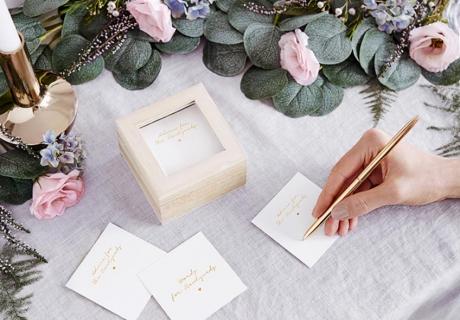 Wedding Advice Cards sind eine tolle Alternative oder Ergänzung zum klassischen Gästebuch