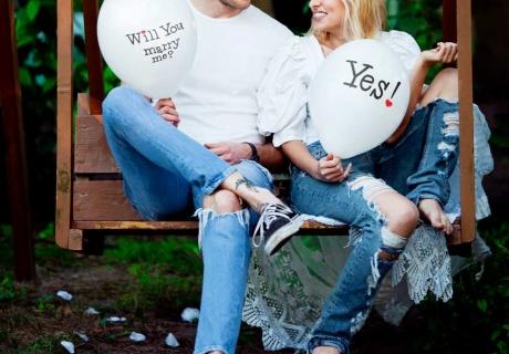 """Mach deinen Antrag mit einem romantischen """"Will you marry me?"""" Ballon"""