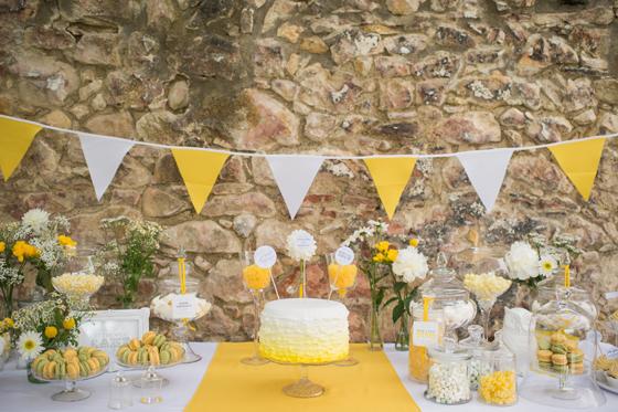 Vintage Hochzeit Ein Traum In Gelb Weiss Und Schwarz My Bridal