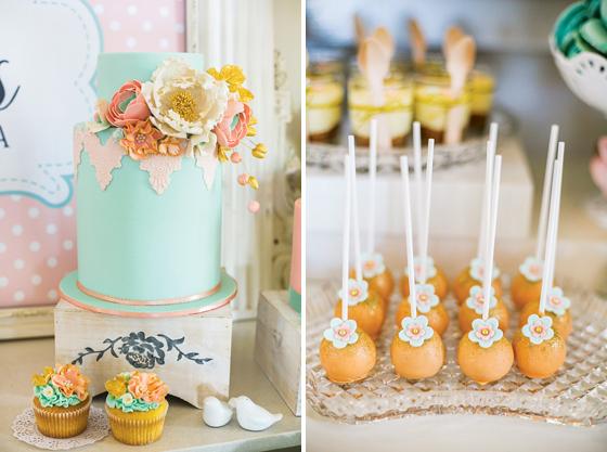 Romantische Vintage Dekoration - High Tea Party mit Sweet Table