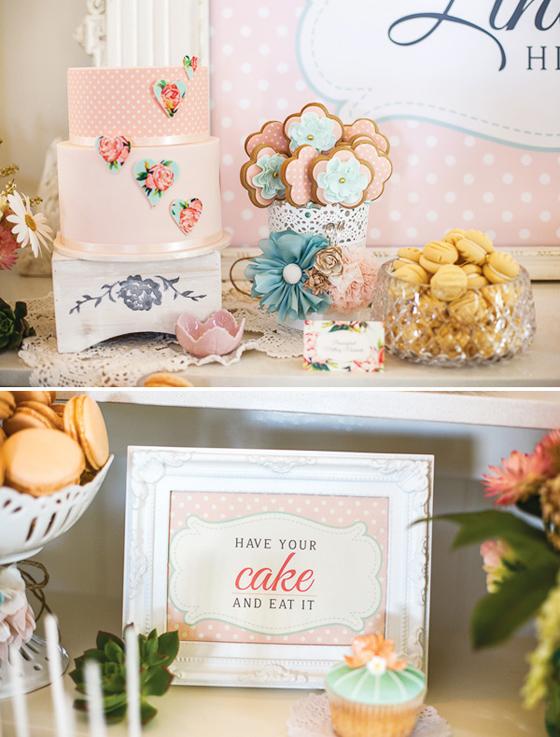 Romantischer Vintage Sweet Table