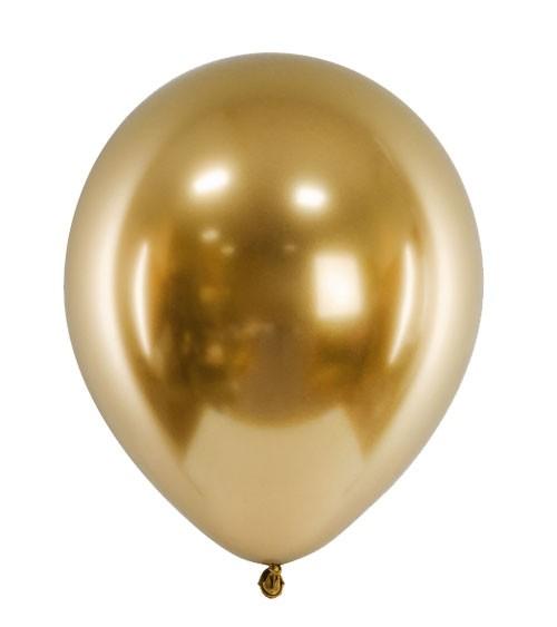 Glossy-Luftballons - gold - 50 Stück