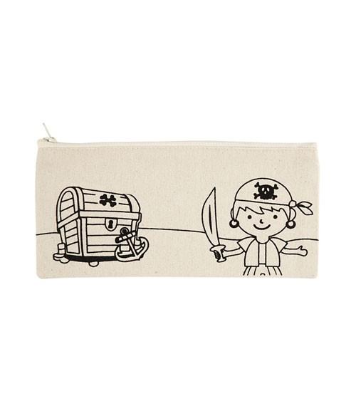"""Mäppchen zum Ausmalen """"Kleiner Pirat"""" - 21 x 9 cm"""