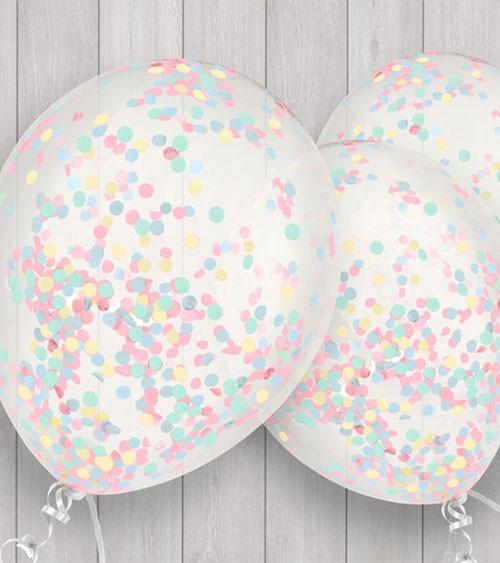 Konfetti-Ballons - bunt - 5 Stück