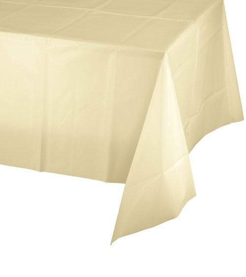 Kunststoff-Tischdecke - elfenbein - 137 x 274 cm