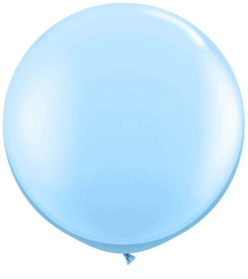 Riesiger Rundballon - hellblau - 90 cm