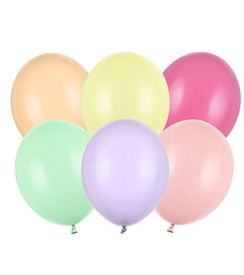 Standard-Luftballons - Pastell Mix - 30 cm - 50 Stück