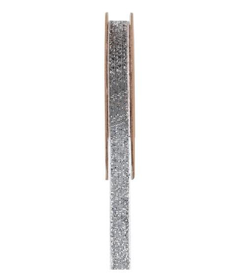 """Selbstklebendes Geschenkband """"Metallicfäden"""" - silber - 10 mm x 1 m"""
