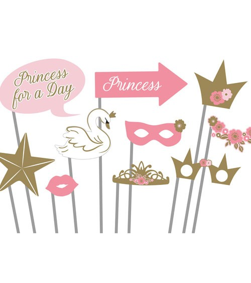 "Photobooth Props ""Princess for a Day"" - 10 Stück"