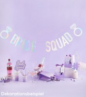 """Schriftzuggirlande """"Bride Squad"""" - irisierend - 2 m"""