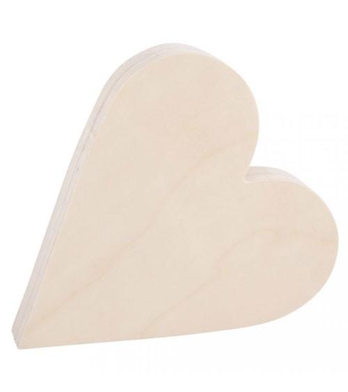 Herz aus Holz zum Aufstellen - 25 x 27 cm