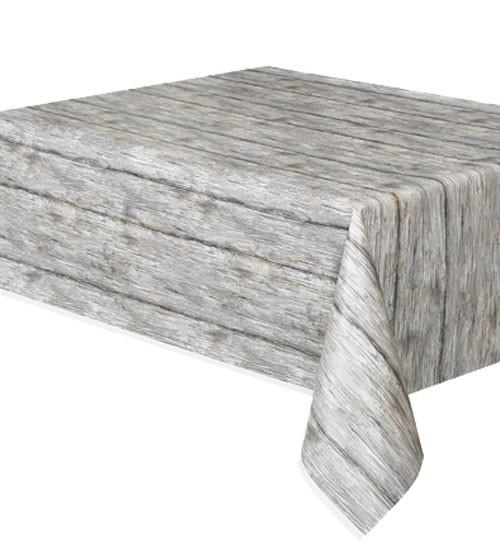 """Kunststoff-Tischdecke """"Holz"""" - 137 x 274 cm"""