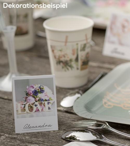 """Platzkarten """"Polaroid Wedding"""" - 10 Stück"""