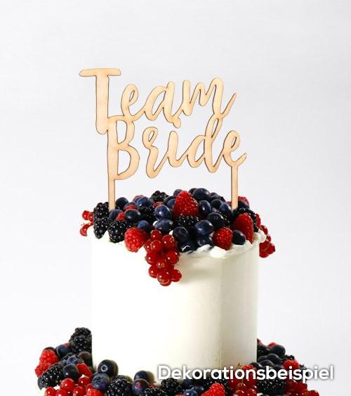 """Cake-Topper """"Team Bride"""" aus Holz"""