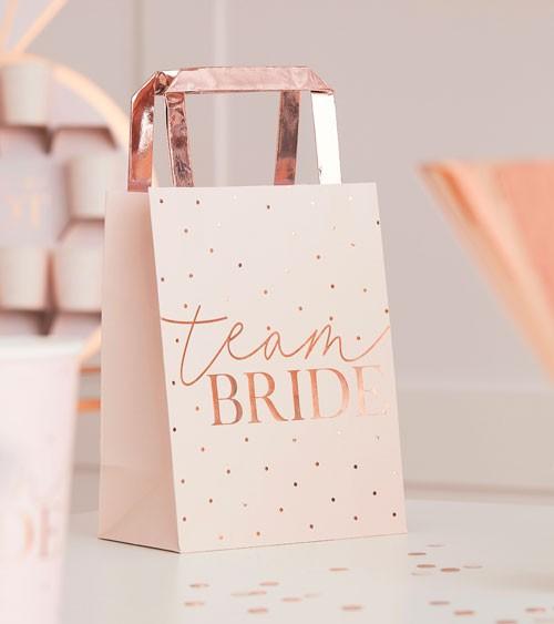 Team Bride Papiertüten mit Henkel - 5 Stück