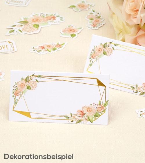 """Platzkarten """"Geo Floral"""" - 25 Stück"""