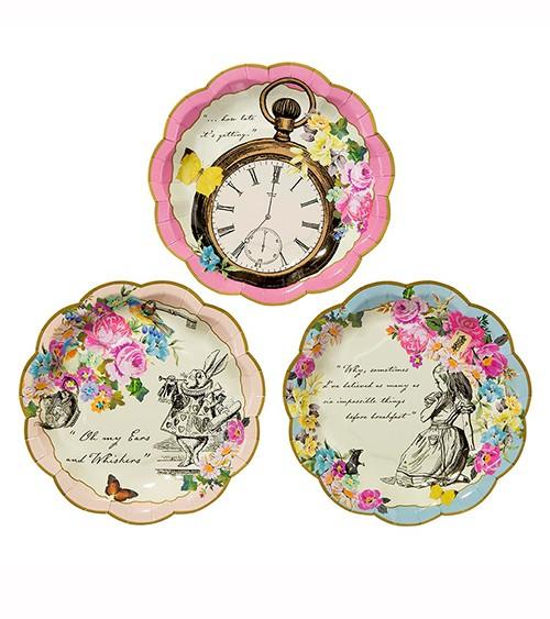 """Kleine Pappteller """"Alice im Wunderland"""" - 12 Stück"""
