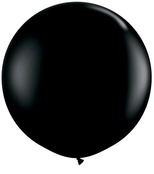 Riesiger Rundballon - schwarz - 90 cm