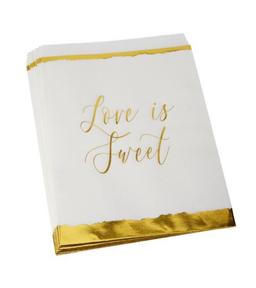 """Süßigkeitentüten """"Dipped in Gold"""" - Love is sweet - 25 Stück"""