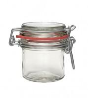 Bügelglas mit rotem Gummiring - 125 ml