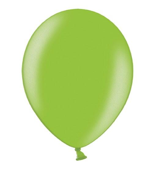 Metallic-Luftballons - hellgrün - 10 Stück