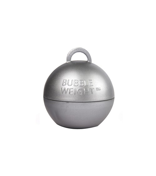 """Ballon-Gewichte """"Bubble"""" - silber - 25 Stück"""