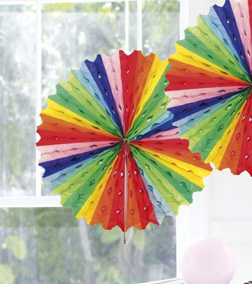 Papier-Deko-Fächer - 45 cm - bunt
