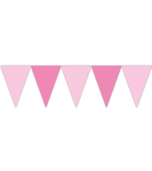 Wimpelgirlande - rosa/pink - 2,3 m