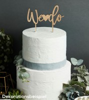 "Cake Topper aus Holz ""We do"""
